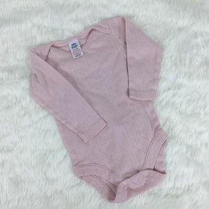 BABY BODEN Light Pink Long Sleeve Onesie